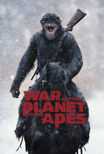 War for the Planet of the Apes movie cover
